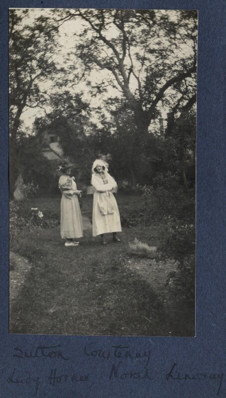 Frances Jane Horner (née Graham), Lady Horner; Norah Mary Madeleine Lindsay (née Bourke), by Lady Ottoline Morrell, 1923-1924 - NPG Ax141685 - © National Portrait Gallery, London