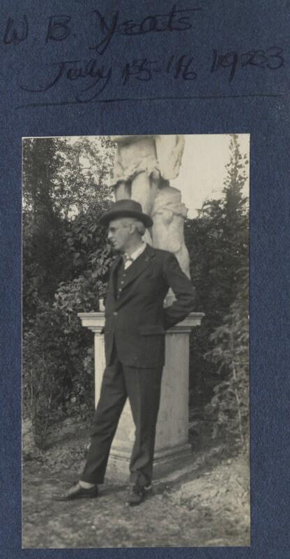 W.B. Yeats, by Lady Ottoline Morrell, 15-16 July 1924 - NPG Ax141699 - © National Portrait Gallery, London