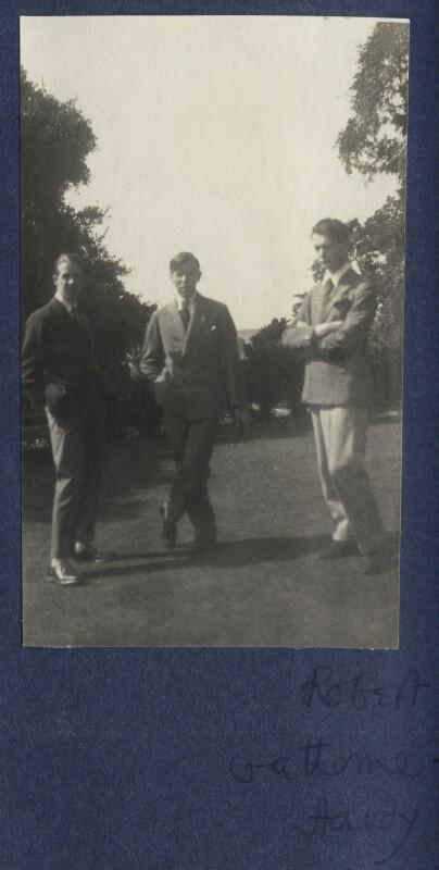 Walter James Redfern Turner; Gilbert Spencer; Hon. Robert Gathorne-Hardy, by Lady Ottoline Morrell, 1924 - NPG Ax141703 - © National Portrait Gallery, London