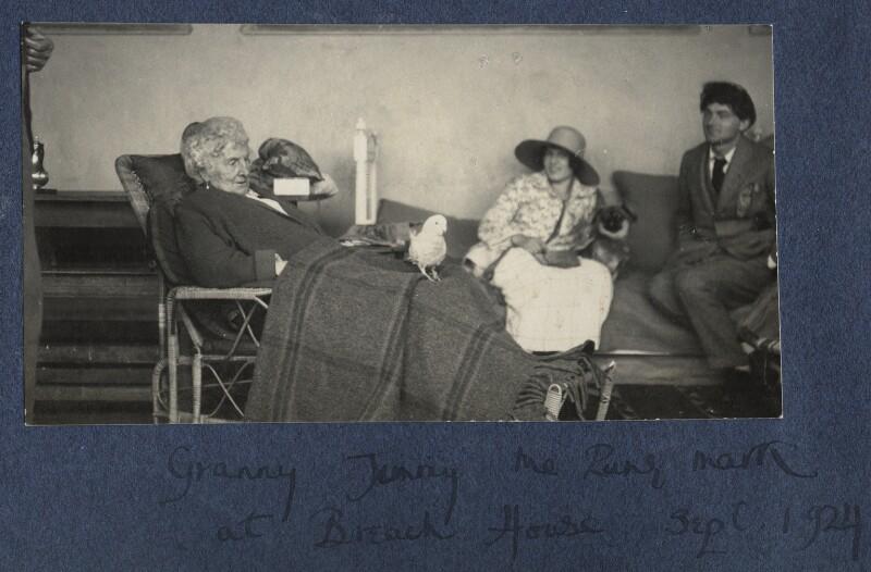 Harriette Morrell (née Wynter); Julian Vinogradoff (née Morrell); Mark Gertler, by Lady Ottoline Morrell, September 1924 - NPG Ax141776 - © National Portrait Gallery, London