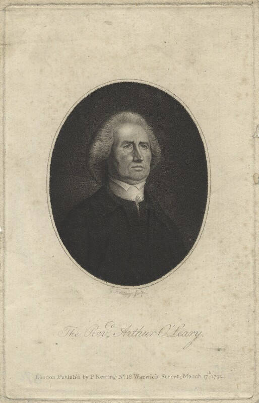 Arthur O'Leary, by George Keating, published 1791 - NPG D20936 - © National Portrait Gallery, London