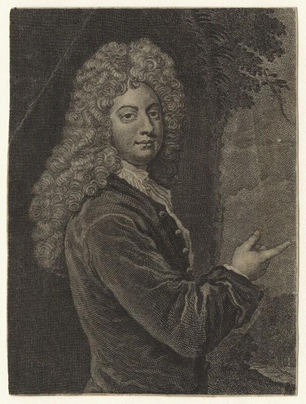 William Congreve, by Michael Vandergucht, after  Sir Godfrey Kneller, Bt, published 1718 (1709) - NPG D20959 - © National Portrait Gallery, London