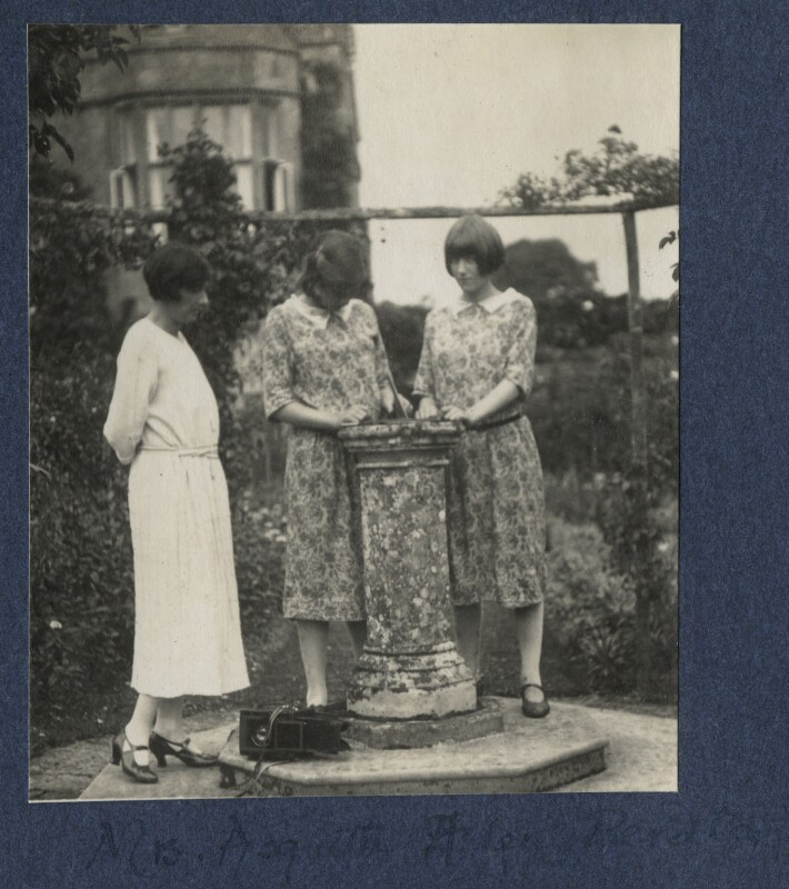 Katharine Frances Asquith (née Horner); Lady Helen Frances Asquith; Perdita Rose Mary Jolliffe (née Asquith), Lady Hylton, by Lady Ottoline Morrell, September 1924 - NPG Ax141808 - © National Portrait Gallery, London