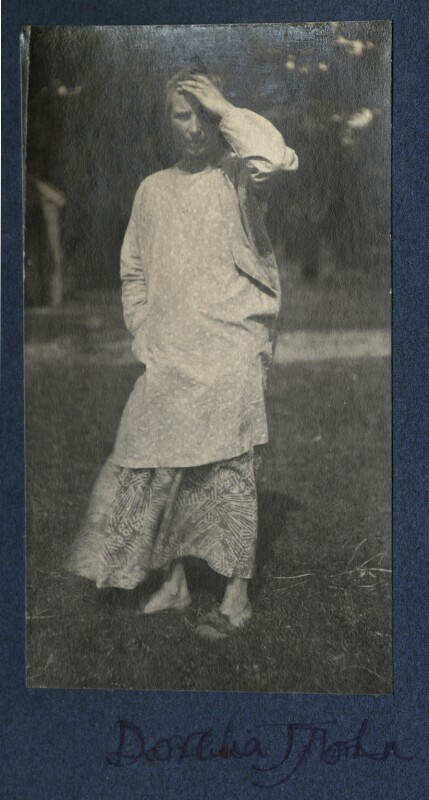 Dorelia McNeill, by Lady Ottoline Morrell, late 1924 - NPG Ax141837 - © National Portrait Gallery, London