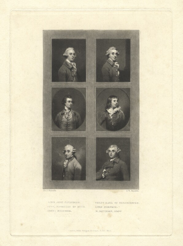Mezzotint reproductions by Samuel William Reynolds after six portraits by Sir Joshua Reynolds, by Samuel William Reynolds, after  Sir Joshua Reynolds, 1838 - NPG D1237 - © National Portrait Gallery, London
