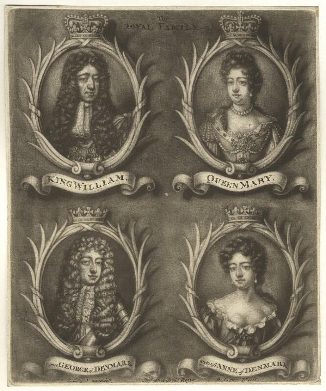 The Royal Family, by Bernard Lens (II), 1689-1702 - NPG D7754 - © National Portrait Gallery, London