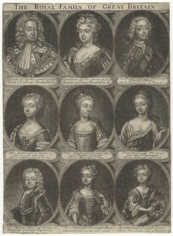 The Royal Family of Great Britain, by Unknown artist, after 1724 - NPG D3023 - © National Portrait Gallery, London