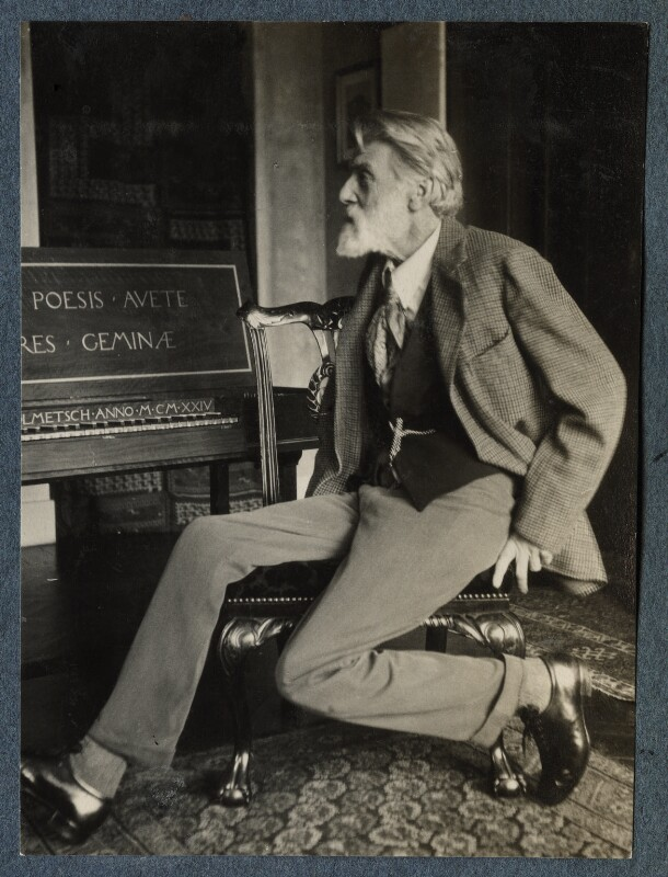 'The Poet Laureate' (Robert Bridges), by Lady Ottoline Morrell, October 1924 - NPG Ax142024 - © National Portrait Gallery, London