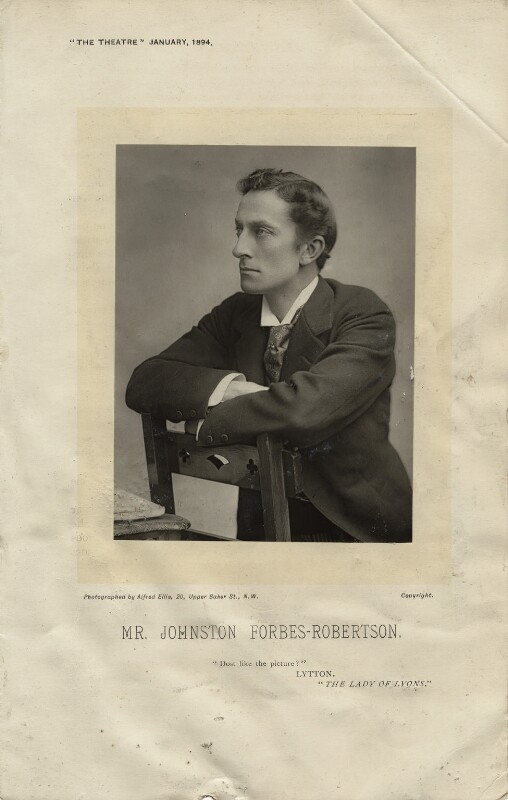 Sir Johnston Forbes-Robertson, by Alfred Ellis, published January 1894 - NPG x36112 - © National Portrait Gallery, London
