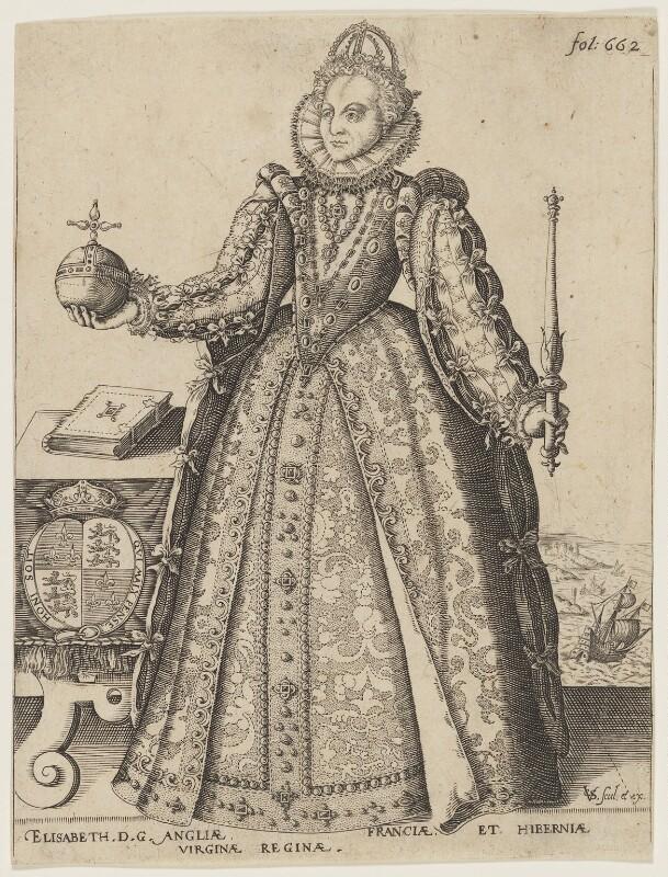 Queen Elizabeth I, by and published by Christoffel van Sichem (Voschem), after  Unknown artist, circa 1596-1624 - NPG D21059 - © National Portrait Gallery, London