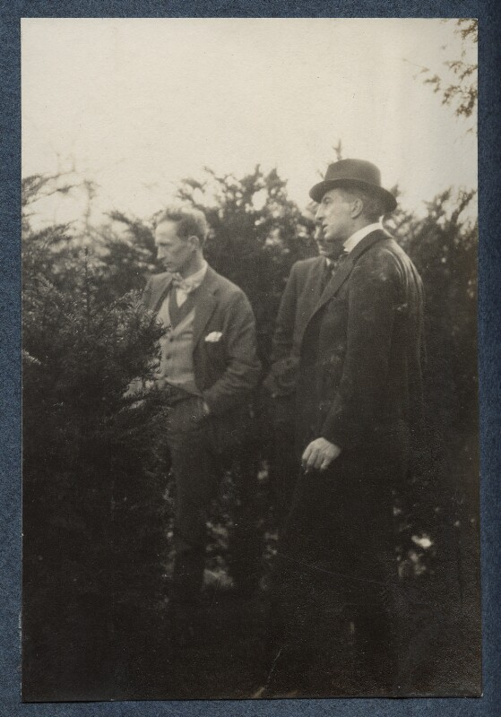 Henry Lamb; Philip Edward Morrell and an unknown man, by Lady Ottoline Morrell, January 1925 - NPG Ax142050 - © National Portrait Gallery, London