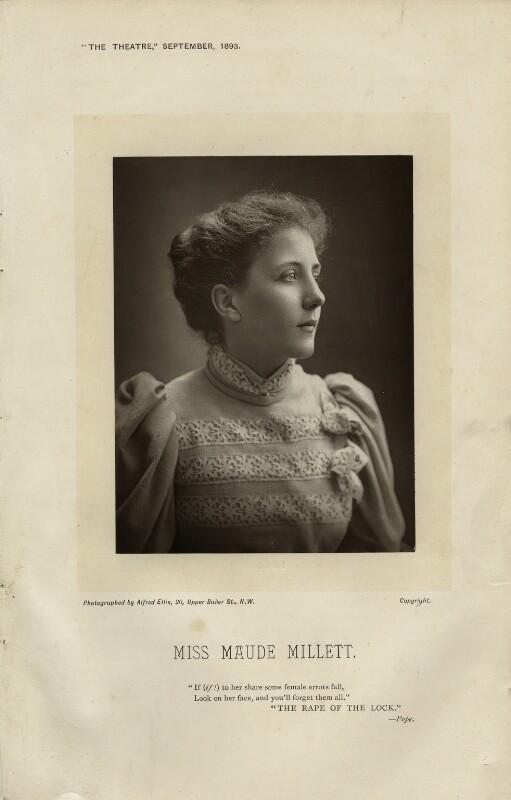 Maude Millett (Mrs Tennant), by Alfred Ellis, published September 1893 - NPG x12527 - © National Portrait Gallery, London