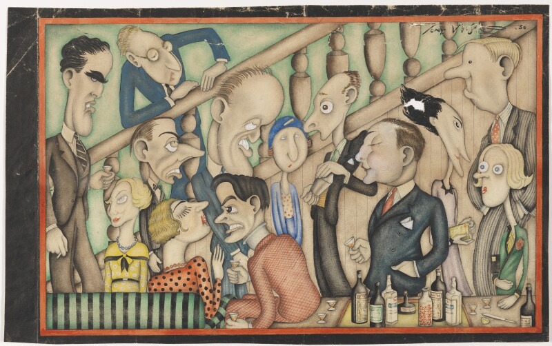 Our Cartoonist in a Savage Mood - at a Bright Young Party, by Anthony Wysard, 1930 - NPG D313 - © reserved; collection National Portrait Gallery, London