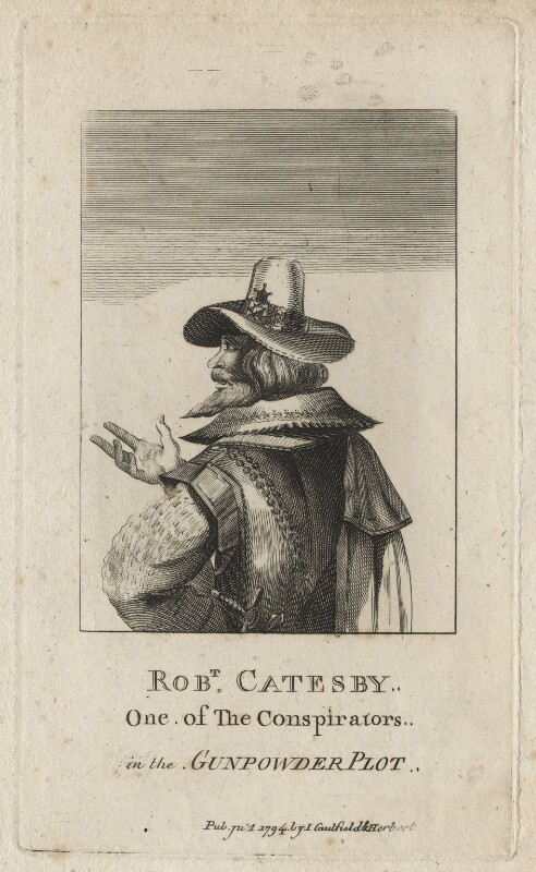 Robert Catesby, by Adam, published by  James Caulfield, published by  Isaac Herbert, published 1794 - NPG D21073 - © National Portrait Gallery, London
