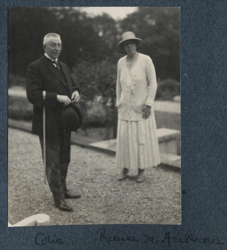 Hendrikus Colijn; Baroness Renira Van Heeckeren Van Kell, by Lady Ottoline Morrell, 1925 - NPG Ax142106 - © National Portrait Gallery, London