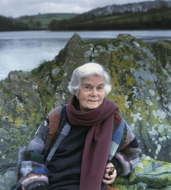 Mary Wesley (Mary Aline Siepmann (née Farmer)), by Kim Sayer, September 2001 - NPG x127358 - © Kim Sayer