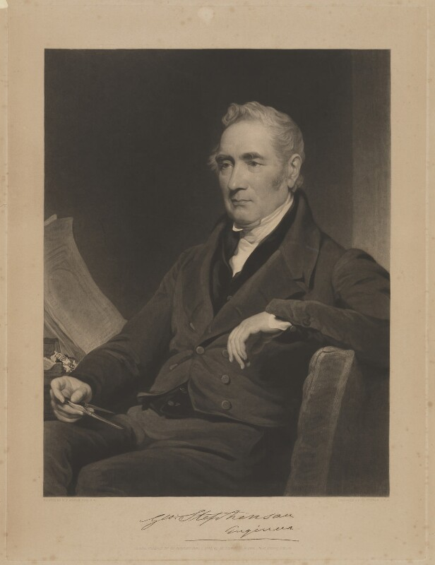 George Stephenson, by and published by Charles Turner, after  Henry Perronet Briggs, published 7 June 1838 - NPG D21133 - © National Portrait Gallery, London