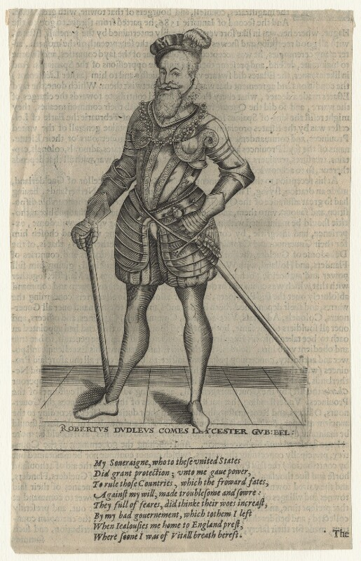 Robert Dudley, 1st Earl of Leicester, after Christoffel van Sichem (Voschem), after 1588 - NPG D21136 - © National Portrait Gallery, London