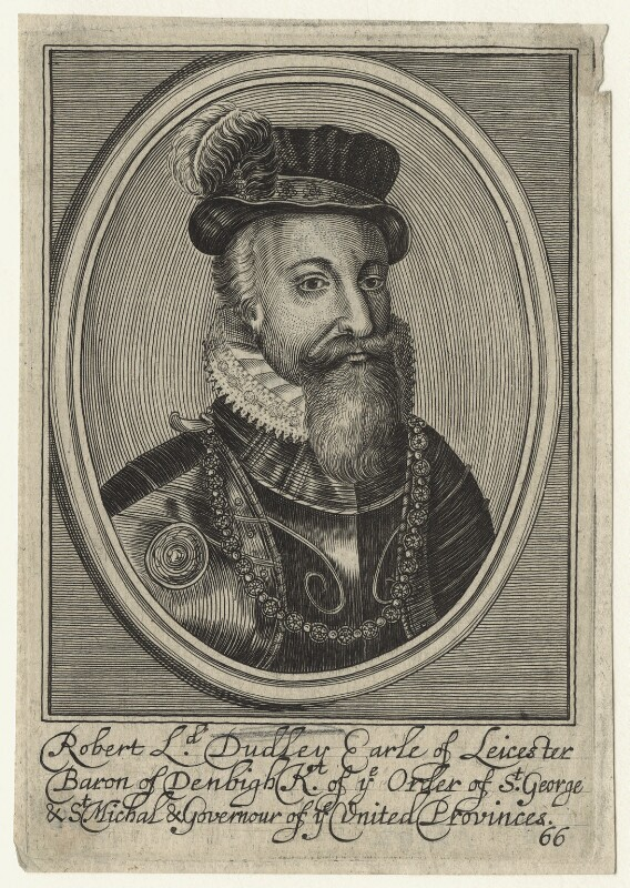 Robert Dudley, 1st Earl of Leicester, by Unknown artist, 17th century - NPG D21142 - © National Portrait Gallery, London