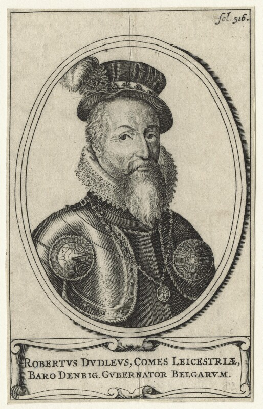 Robert Dudley, 1st Earl of Leicester, by Unknown artist, 17th century - NPG D21148 - © National Portrait Gallery, London