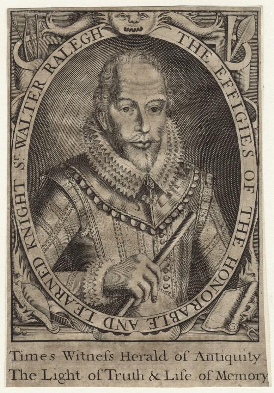 Sir Walter Ralegh (Raleigh), after Simon de Passe, (1617) - NPG D21169 - © National Portrait Gallery, London