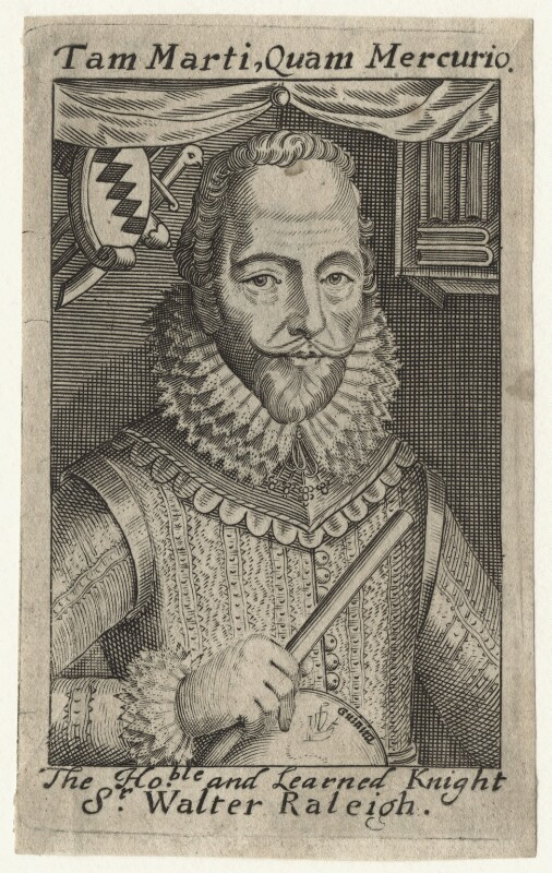 Sir Walter Ralegh (Raleigh), after Simon de Passe, (1617) - NPG D21173 - © National Portrait Gallery, London