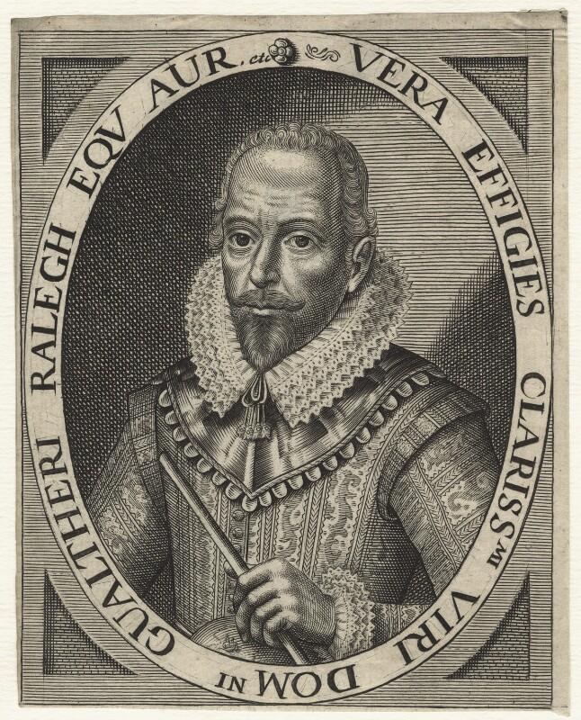 Sir Walter Ralegh (Raleigh), after Simon de Passe, (1617) - NPG D21176 - © National Portrait Gallery, London