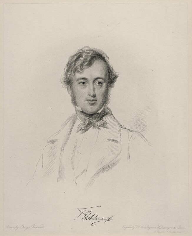 Sir Thomas Dyke Acland, 11th Bt, by Frederick Christian Lewis Sr, after  George Richmond, (1845) - NPG D20649 - © National Portrait Gallery, London