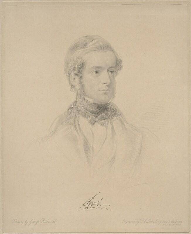 Henry Pelham Fiennes Pelham-Clinton, 5th Duke of Newcastle-under-Lyne, by Frederick Christian Lewis Sr, after  George Richmond, (1841) - NPG D20653 - © National Portrait Gallery, London