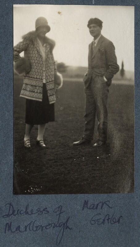 Gladys Marie Spencer-Churchill (née Deacon), Duchess of Marlborough; Mark Gertler, by Lady Ottoline Morrell, 1926 - NPG Ax142527 - © National Portrait Gallery, London