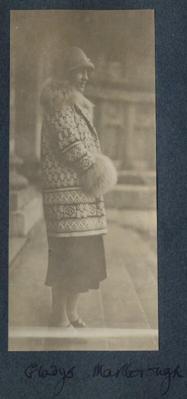 Gladys Marie Spencer-Churchill (née Deacon), Duchess of Marlborough, by Lady Ottoline Morrell, 1926 - NPG Ax142528 - © National Portrait Gallery, London