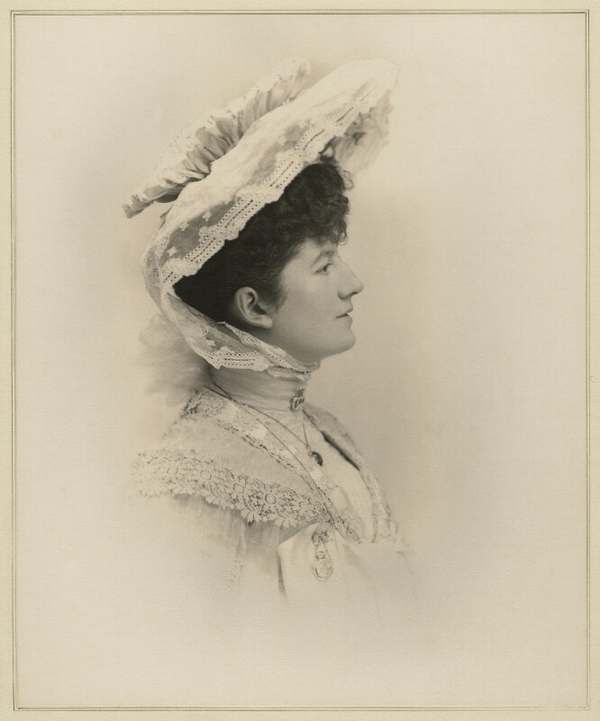 Priscilla Cecilia (née Moore), Countess Annesley, by Elliott & Fry, 1903 - NPG x127403 - © National Portrait Gallery, London