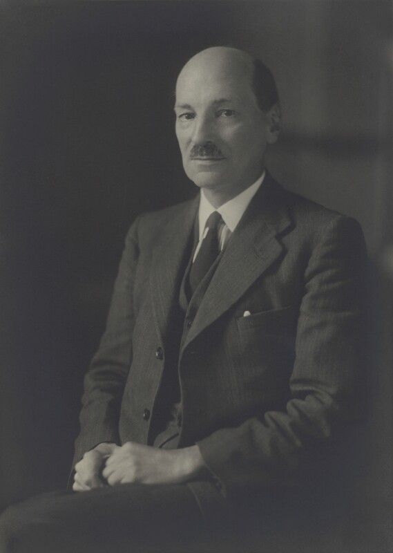 Clement Attlee, by Walter Stoneman, August 1941 - NPG x21930 - © National Portrait Gallery, London