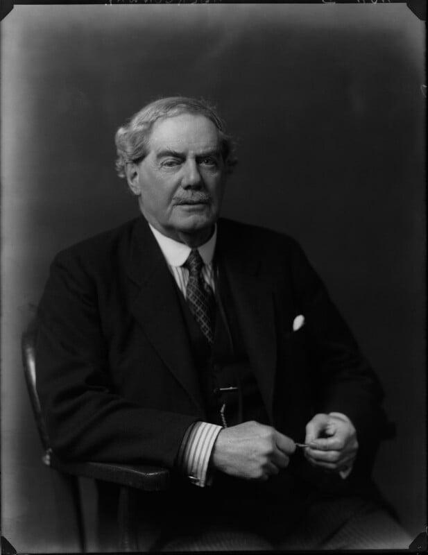 Charles Benjamin Bright McLaren, 1st Baron Aberconway, by Walter Stoneman, 1924 - NPG x38253 - © National Portrait Gallery, London