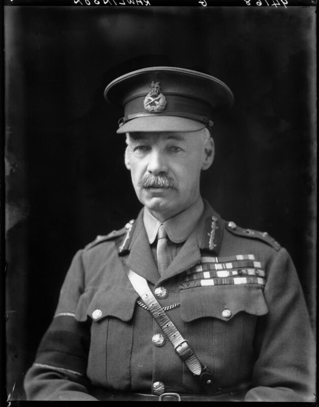 Henry Seymour Rawlinson, 1st Baron Rawlinson of Trent, by Walter Stoneman, 1918 - NPG x44090 - © National Portrait Gallery, London
