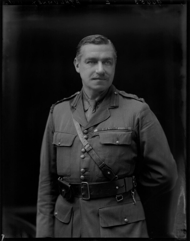 James Herbert Gustavus Meredyth Somerville, 2nd Baron Athlumney, by Walter Stoneman, 1918 - NPG x44381 - © National Portrait Gallery, London