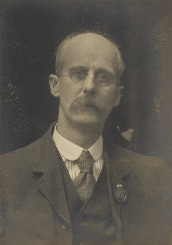 Dugald Sutherland MacColl, by Walter Stoneman, for  James Russell & Sons, circa 1916 - NPG Ax46155 - © National Portrait Gallery, London