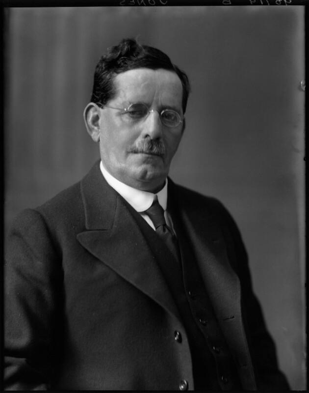 Josiah Towyn Jones, by Walter Stoneman, 1921 - NPG x67582 - © National Portrait Gallery, London