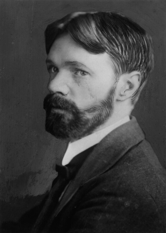 D.H. Lawrence, by Elliott & Fry, circa 1915 - NPG x81934 - © National Portrait Gallery, London