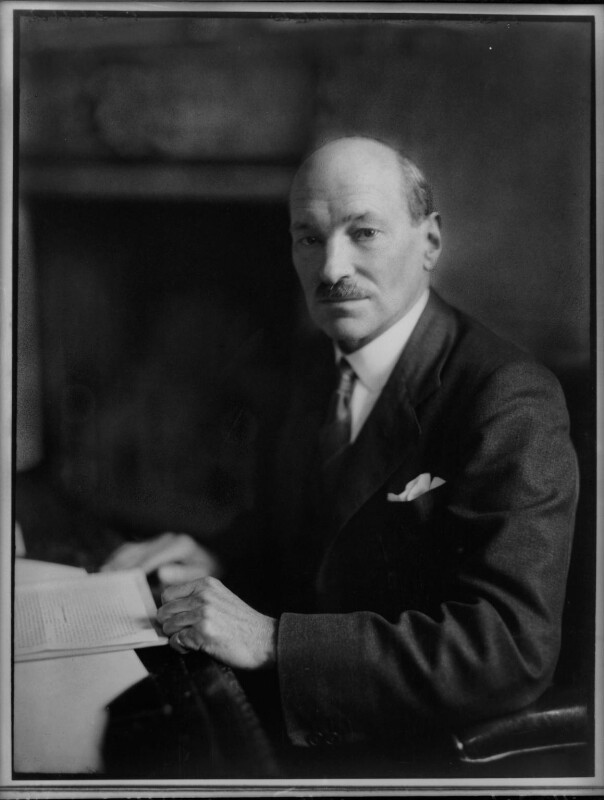 Clement Attlee, by Elliott & Fry, 1943 - NPG x82098 - © National Portrait Gallery, London
