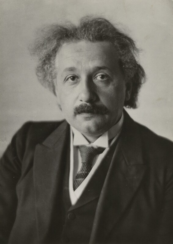 Albert Einstein, by Walter Benington, for  Elliott & Fry, 18 May 1928 - NPG x82213 - © National Portrait Gallery, London