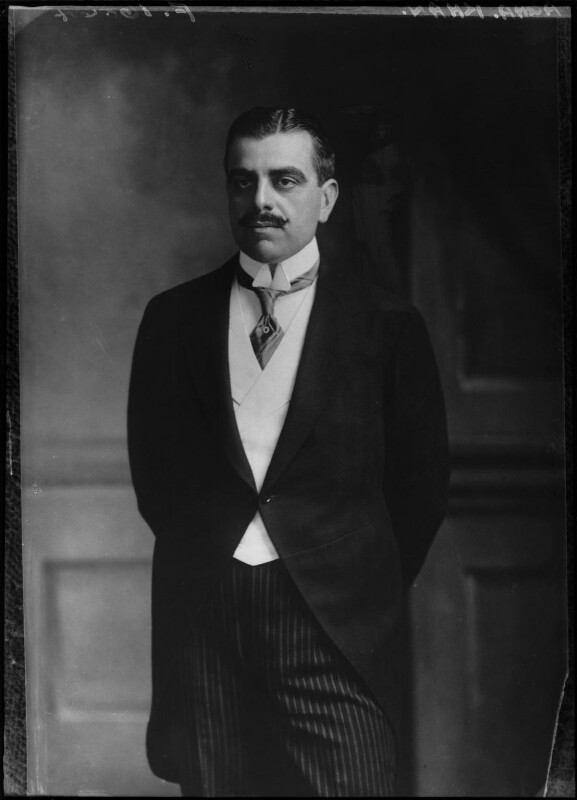 Aga Khan III (Mohammed Shah), by Elliott & Fry, 1911 - NPG x82377 - © National Portrait Gallery, London