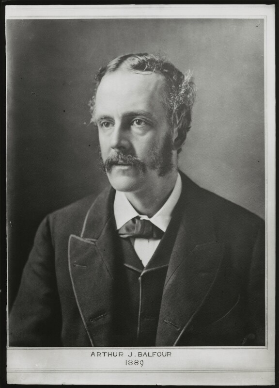Arthur James Balfour, 1st Earl of Balfour, by Elliott & Fry, 1889 - NPG x82454 - © National Portrait Gallery, London