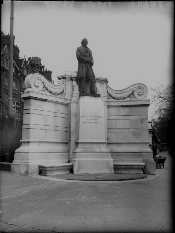 Statue of Isambard Kingdom Brunel at Temple, London, by Elliott & Fry, 1857 - NPG x82501 - © National Portrait Gallery, London