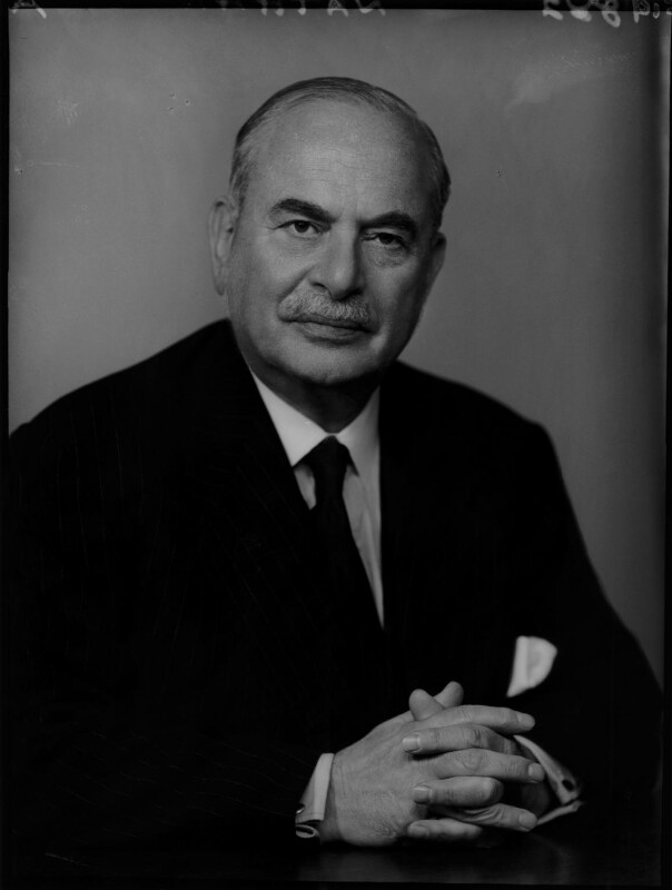 Harry Louis Nathan, 1st Baron Nathan, by Elliott & Fry, 10 February 1957 - NPG x82935 - © National Portrait Gallery, London