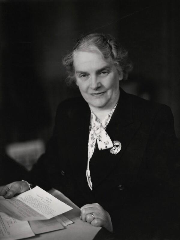 Jennie Laurel Adamson (née Johnston), by Elliott & Fry, 1945 - NPG x86112 - © National Portrait Gallery, London