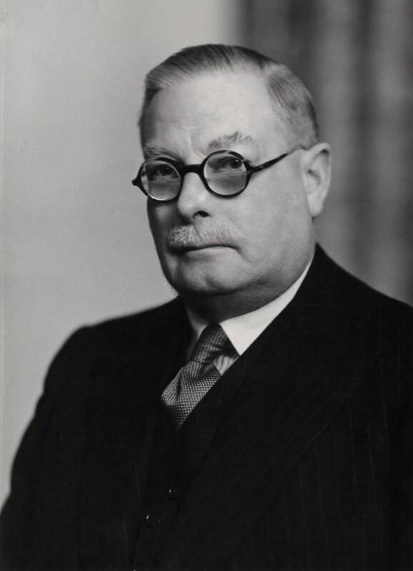 Sir Henry Arthur Benyon, 1st Bt, by Elliott & Fry, 1954 - NPG x86347 - © National Portrait Gallery, London