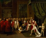 Queen Anne and the Knights of the Garter, by Peter Angelis, circa 1725 - NPG  - © National Portrait Gallery, London