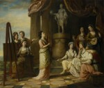 Portraits in the Characters of the Muses in the Temple of Apollo, by Richard Samuel, 1778 - NPG  - © National Portrait Gallery, London