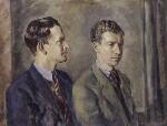 Peter Pears; Benjamin Britten, by Kenneth Green, 1943 - NPG  - © National Portrait Gallery, London